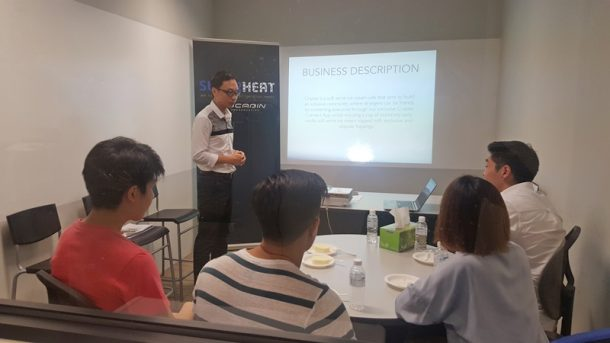 An engaging discussion on the group's business plan with mentor Dennis Tan, general manager of Superheat Private Limited.