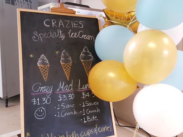 Crazies Soft Serve Menu