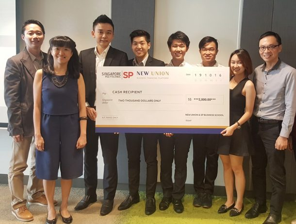 Crazies receiving their Gold award at the Singapore Polytechnic Annual Entrepreneurship Seed Fund Awards Ceremony. Congratulations!